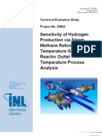 20of Hydrogen Production via Steam Methane Reforming to High Temperature Gas-Cooled Reactor Outlet Temperature Process Analysis