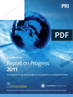 2011 Report on Progress