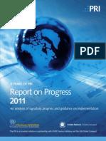 2011 Report on Progress