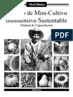 Manual de Capacitación - NIVEL BÁSICO - Método de Mini-Cultivo Biointensivo Sustentable