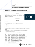 As 1774.13-2000 Refractories and Refractory Materials - Physical Test Methods Permanent Dimensional Change