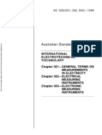 As 1852 (Pt 301 302 303)-1988 International Electrotechnical Vocabulary