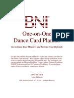 Dance Card Planner