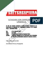 Citacion Urgente a Audiencia Con Presidente 06-06-2012