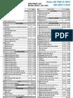 Daftar Harga Per 1 Juni 2012
