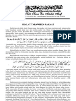 Dalil & Sejarah Sholat Tarawih 20 Rakaat