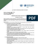 Communications & Media Assitant GS-5