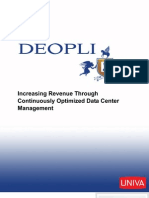Increasing Revenue Throught Optimized Data Center Management