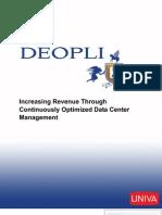 Increasing Revenue Throught Optimized Data Center Management