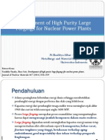 Development of high purity large forgings for nuclear power plants