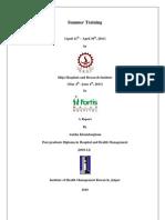 Summer Internship Report PGDHM