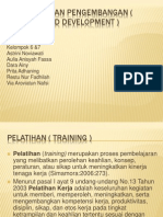 Pelatihan Dan Pengembangan ( Training and Development )