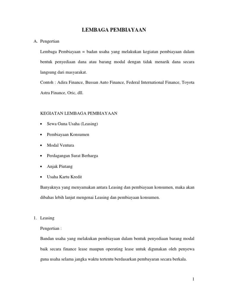 Adira Finance Contoh Surat Penarikan Kendaraan Dari Leasing Bagi Contoh Surat