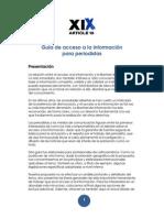 Article XIX - Guia Acceso a La Informacion LA