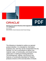 Oracle R12 Upgrade Planning