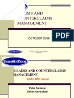 2. Claims and Counterclaims Management