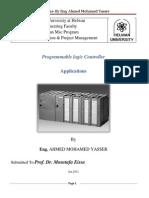 Ahmed Yasser-PLC Report