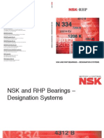 NSK & RHP Designation Systems