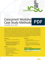 Concurrent Workshop on Case Study Methodology Brochure