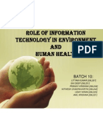 Role of Information Technology in Environment And