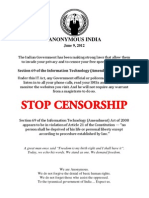 Anonymous India Flyers