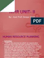 MHR UNIT- II