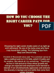 How Do You Choose the Right Career Path