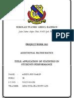Project Work AddMath 2012'