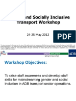Gender and Socially Inclusive Transport Workshop