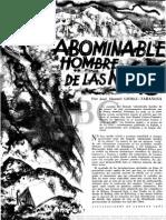 El Abominable Hombre de Las Nieves. Blanco y Negro 1961