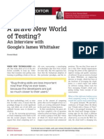 A Brave New World of Testing