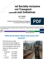 Gender and Socially-inclusive Rural Transport