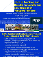 Good Practice in Tracking and Reporting Results on Gender and Social Inclusion in ADB Transport Projects