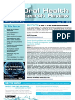 Oral Health Research Review Issue 12