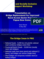 Bridge Replacement for Improved Rural Access Sector Project in Papua New Guinea