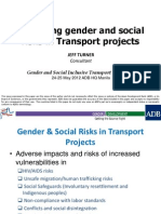 Mitigating gender and social risks in Transport projects