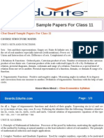 Cbse Board Sample Papers for Class 11