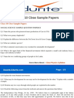 Class 10 Cbse Sample Papers