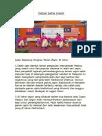 Latar Belakang Ringkas Tarian Zapin Di Johor