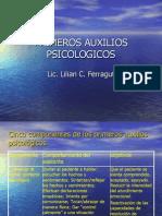 Cinco componentes de los primeros auxilios psicológicos
