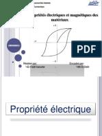 les propriété electrique et magnetique d'un maté
