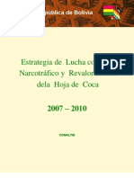 conaltid estrategia de lucha contra el narcotrafico y revalorizacion de la hoja de coca