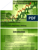Cloud Computing in Financial Sector Ppt Final