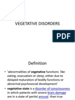 Vegetative Disorders