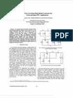 A New Low Stress Buck-boost Converter for Universal Input PFC Applications