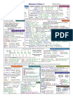 Mémento Bases Python 3