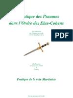 5 Pratique Des Psaumes Ordre Elus Cohens-1