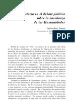 debate político sobre enseñanza humanidades. P. Ruiz