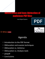 Obfuscation Detection PDF Files Peepdf Caro2011