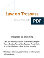 FINALS- Media Law on Trespass